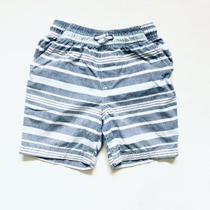 Blue Striped Pull On Shorts
